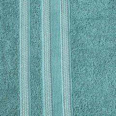 Ręcznik z bawełny zdobiony błyszczącą nitką 70x140cm turkusowy - 70 X 140 cm - turkusowy 3