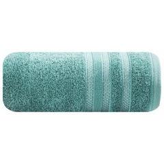 Ręcznik z bawełny zdobiony błyszczącą nitką 70x140cm turkusowy - 70 X 140 cm - turkusowy 2