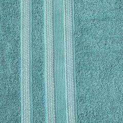 Ręcznik z bawełny zdobiony błyszczącą nitką 70x140cm turkusowy - 70 X 140 cm - turkusowy 4