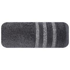 Ręcznik z bawełny zdobiony błyszczącą nitką 50x90cm czarny - 50 X 90 cm - czarny 2