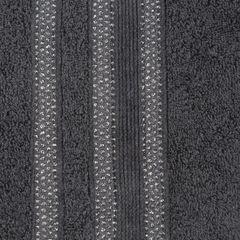 Ręcznik z bawełny zdobiony błyszczącą nitką 50x90cm czarny - 50 X 90 cm - czarny 4