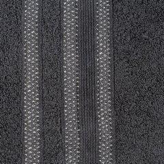 Ręcznik z bawełny zdobiony błyszczącą nitką 70x140cm czarny - 70 X 140 cm - czarny 3