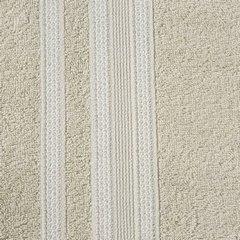Ręcznik z bawełny zdobiony błyszczącą nitką 50x90cm beżowy - 50 X 90 cm - beżowy 8