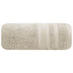 Ręcznik z bawełny zdobiony błyszczącą nitką 50x90cm beżowy - 50 X 90 cm - beżowy 2