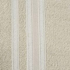 Ręcznik z bawełny zdobiony błyszczącą nitką 70x140cm beżowy - 70 X 140 cm - beżowy 7