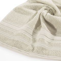 Ręcznik z bawełny zdobiony błyszczącą nitką 70x140cm beżowy - 70 X 140 cm - beżowy 5