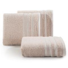 Ręcznik z bawełny zdobiony błyszczącą nitką 50x90cm jasnoróżowy - 50x90 - różowy 1