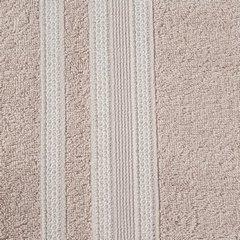 Ręcznik z bawełny zdobiony błyszczącą nitką 50x90cm jasnoróżowy - 50x90 - różowy 3