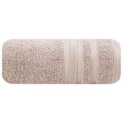 Ręcznik z bawełny zdobiony błyszczącą nitką 50x90cm jasnoróżowy - 50 X 90 cm - pudrowy 2