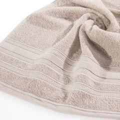 Ręcznik z bawełny zdobiony błyszczącą nitką 70x140cm jasnoróżowy - 70 X 140 cm - pudrowy 9