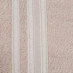 Ręcznik z bawełny zdobiony błyszczącą nitką 70x140cm jasnoróżowy - 70 X 140 cm - pudrowy 4