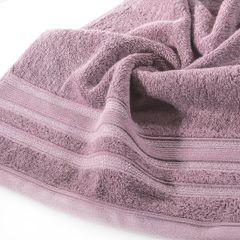 Ręcznik z bawełny zdobiony błyszczącą nitką 50x90cm różowy - 50 X 90 cm - liliowy 5