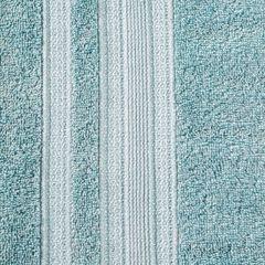 Ręcznik z bawełny zdobiony błyszczącą nitką 50x90cm miętowy - 50 X 90 cm - miętowy 7