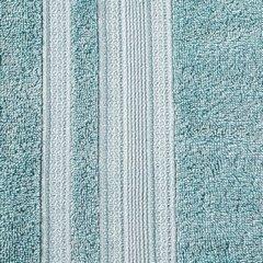 Ręcznik z bawełny zdobiony błyszczącą nitką 50x90cm miętowy - 50 X 90 cm - miętowy 8