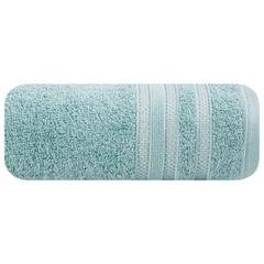 Ręcznik z bawełny zdobiony błyszczącą nitką 50x90cm miętowy - 50 X 90 cm - miętowy 2