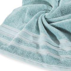 Ręcznik z bawełny z ozdobnym stebnowaniem 70x140cm - 70 X 140 cm - miętowy 9