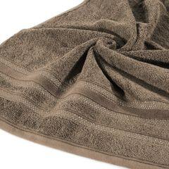 Ręcznik z bawełny zdobiony błyszczącą nitką 70x140 cm brązowy - 70 X 140 cm - brązowy 2