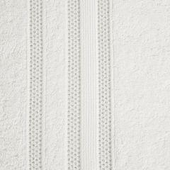 Ręcznik z bawełny zdobiony błyszczącą nitką 70x140cm kremowy - 70 X 140 cm - kremowy 7