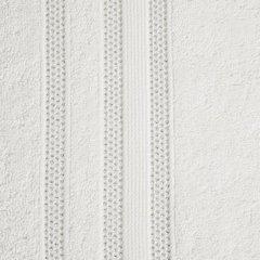 Ręcznik z bawełny zdobiony błyszczącą nitką 70x140cm kremowy - 70 X 140 cm - kremowy 4