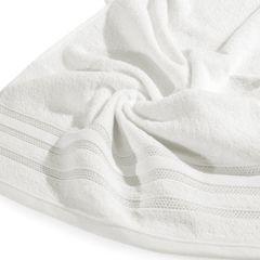 Ręcznik z bawełny zdobiony błyszczącą nitką 70x140cm kremowy - 70 X 140 cm - kremowy 9