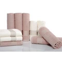 Klasyczny ręcznik kąpielowy beżowy 70x140 cm - 70 X 140 cm - beżowy 2