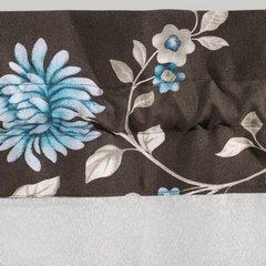 Firana z ozdobną wstawką w kwiaty tunel z grzywką 400x150cm - 400 x 150 cm - biały 3