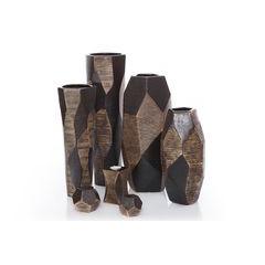 Wazon dekoracyjny alpino - ∅ 18 X 43 cm - brązowy 3