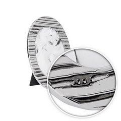Ramka na zdjęcia owalna ceramiczna 22 x 14 x 0.8 cm - 22 X 14 X 0.8 cm - srebrny 6