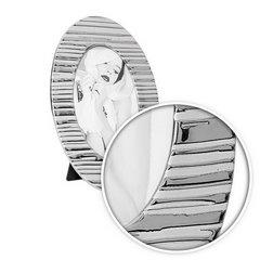 Ramka na zdjęcia owalna ceramiczna 28 x 18 x 1 cm - 28 X 18 X 1 cm - srebrny 7