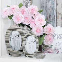 Ramka na zdjęcia owalna ceramiczna 28 x 18 x 1 cm - 28 X 18 X 1 cm - srebrny 10