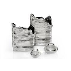 Ramka na zdjęcia owalna ceramiczna 28 x 18 x 1 cm - 28 X 18 X 1 cm - srebrny 3