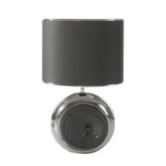 Lampka dekoracyjna ceramiczna stalowo - srebrna 43 cm - 25 X 15 X 43 cm - stalowy/srebrny 1