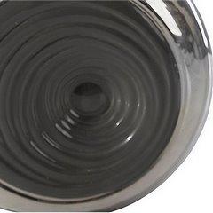 Lampka dekoracyjna ceramiczna stalowo - srebrna 43 cm - 25 X 15 X 43 cm - stalowy/srebrny 5