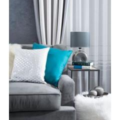 Lampka dekoracyjna ceramiczna stalowo - srebrna 43 cm - 25 X 15 X 43 cm - stalowy/srebrny 3