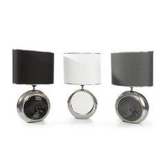 Lampka dekoracyjna ceramiczna stalowo - srebrna 43 cm - 25 X 15 X 43 cm - stalowy/srebrny 4