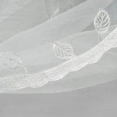Firana haftowana z satynową wstawką taśma 400x145cm - 400 x 145 cm - biały/kremowy 3