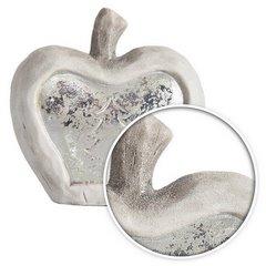 Figurka ceramiczna srebrzyste jabłko 13 x 6 x 14 cm - 13 X 6 X 14 - biały/srebrny 5
