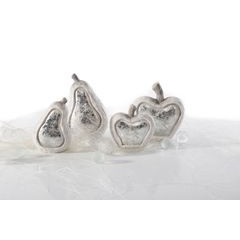 Figurka ceramiczna srebrzyste jabłko 13 x 6 x 14 cm - 13 X 6 X 14 - biały/srebrny 4