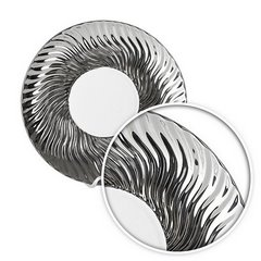 Patera ceramiczna srebrno-biała  - ∅ 27 X 3 cm - srebrny/biały 9