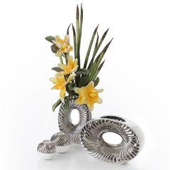 Patera ceramiczna srebrno-biała  - ∅ 27 X 3 cm - srebrny/biały 5