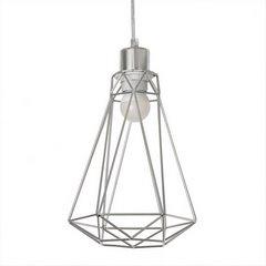 Lampa metalowa loftowa czarno-złota styl industrialny - ∅ 19 X 31 cm - srebrny 8