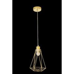 Lampa metalowa loftowa czarno-złota styl industrialny - ∅ 19 X 31 cm - srebrny 3