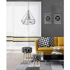 Lampa metalowa loftowa czarno-złota styl industrialny - ∅ 19 X 31 cm - srebrny 5