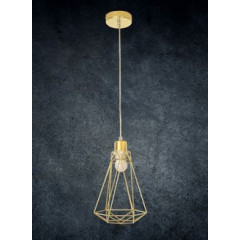 Lampa metalowa loftowa czarno-złota styl industrialny - ∅ 19 X 31 cm - srebrny 6