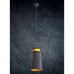 Lampa metalowa loftowa czarno-złota styl industrialny  - ∅ 19 X 36 cm - żółty/czarny 4