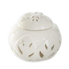 Puzderko ceramiczne ażurowe 8 cm - ∅ 12 X 8 cm - kremowy 1