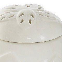 Puzderko ceramiczne ażurowe 8 cm - ∅ 12 X 8 cm - kremowy 5