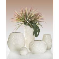 Puzderko ceramiczne ażurowe 8 cm - ∅ 12 X 8 cm - kremowy 4