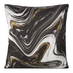 Poszewka dekoracyjna czarna zdobiona złotym brokatem 45 x 45cm - 45x45 - czarny 1