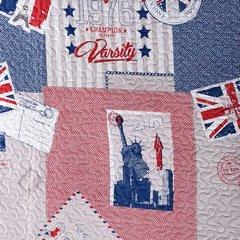 Narzuta wzór młodzieżowy patchwork 170x210cm - 170 X 210 cm - mix kolorów 4